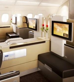 Lufthansa de-luxe in-flight service for premium guests