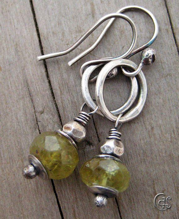 Green Garnet Earrings