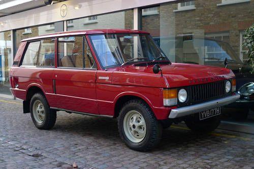 Land Rover Velar Prototype Range Rover Sold 1970