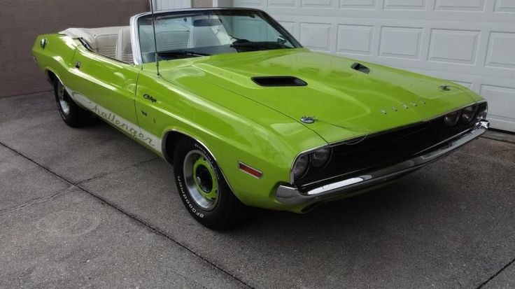 1970 Dodge Challenger Convertible Sublime Green On White