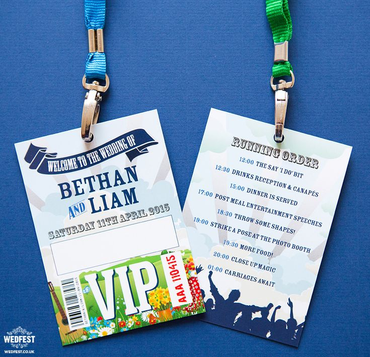 spring wedding vip lanyard wedding program http://www.wedfest.co/spring-boho-wedding-stationery/