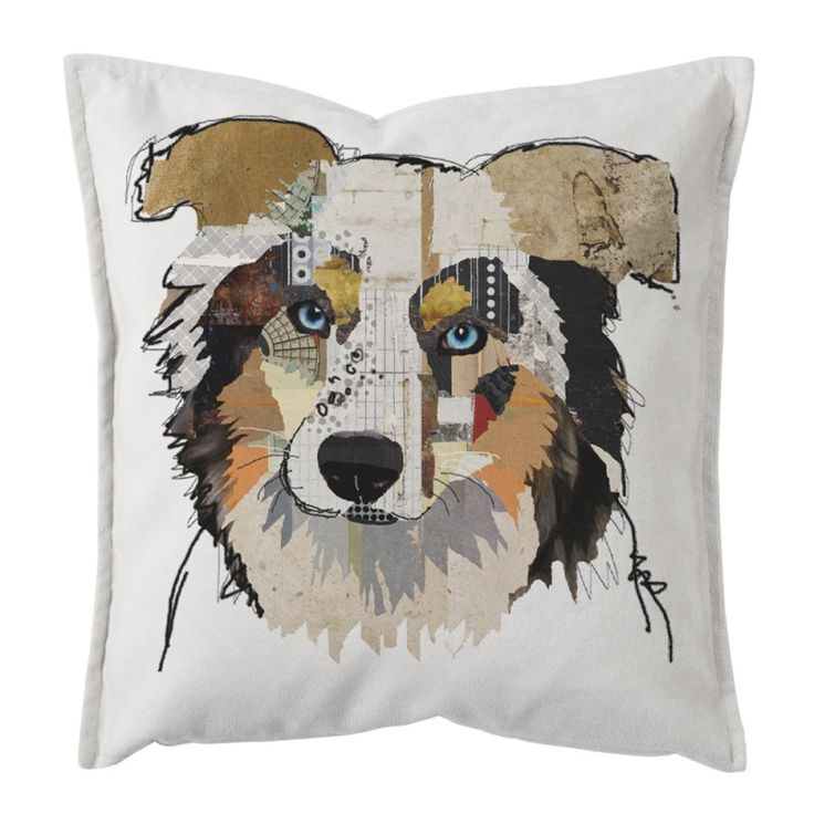 "Decorative pillow cushion design ""Dog Portrait"""