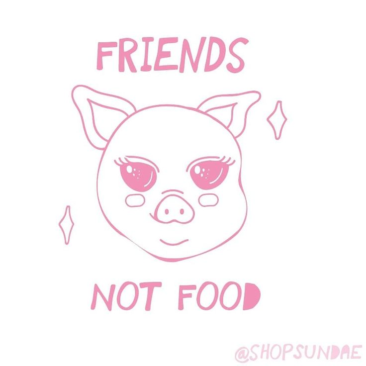 friends not food! :)   #vegan #veganfood #veganpins #animals #art #illustration #artist #shopsundae #animal #cute #kawaii #veganlife #animalcruelty #crueltyfree #love
