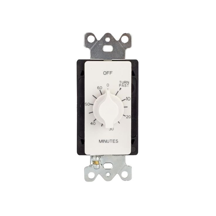 Tork 60 Minute Spring Wound Timer With Wall Plate White Plates On Wall Whole House Fan Bathroom Exhaust Fan