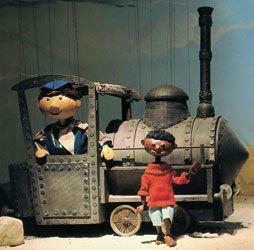 Augsburger Puppenkiste: Jim Knopf und Lukas der Lokomotivführer. Awwww...this brings back such wonderful childhood memories. :)