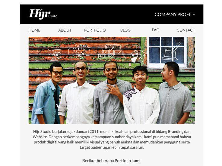 Hijr Studio Email Template by Oka Kuswandi