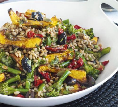 Squash & barley salad with balsamic vinaigrette                                                                                                                                                                                 More