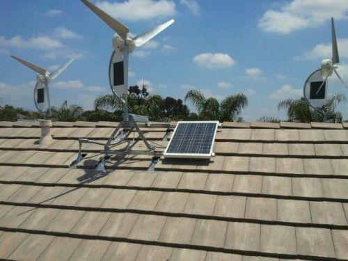 Hybrid Wind/Solar Power Generators for Homes