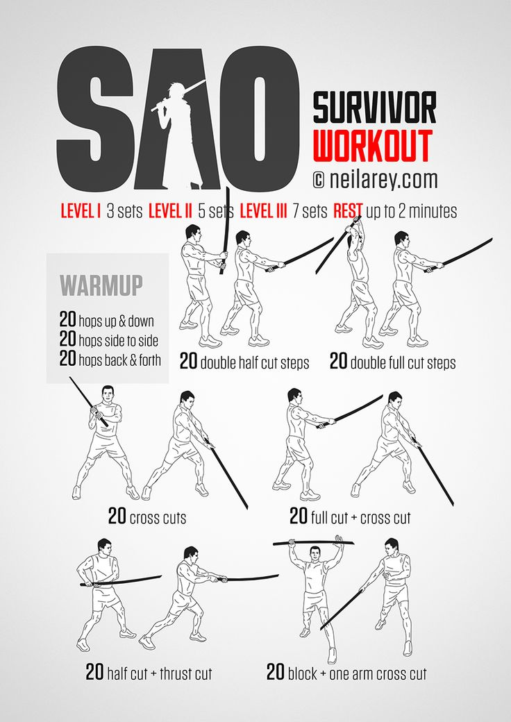 SAO Survivor Workout  When nerdiness meets fitness...