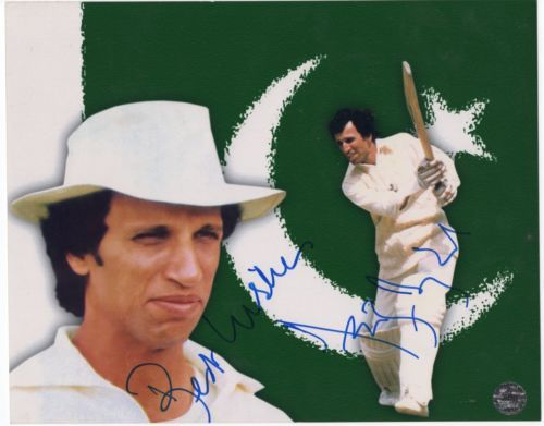 Asif Iqbal Cricket Signed Picture 8X10
