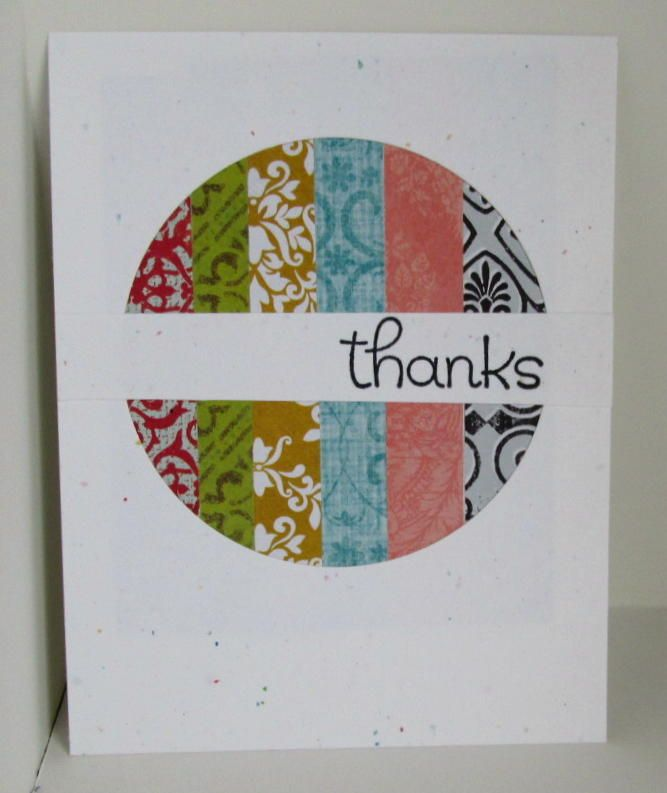 Love This Die Cut Circle Using Scraps For A Great Thank You Card Top 13 Of