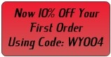 10% off your first order.