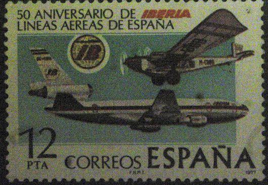 50 Aniversario de las lineas aereas de Iberia de España