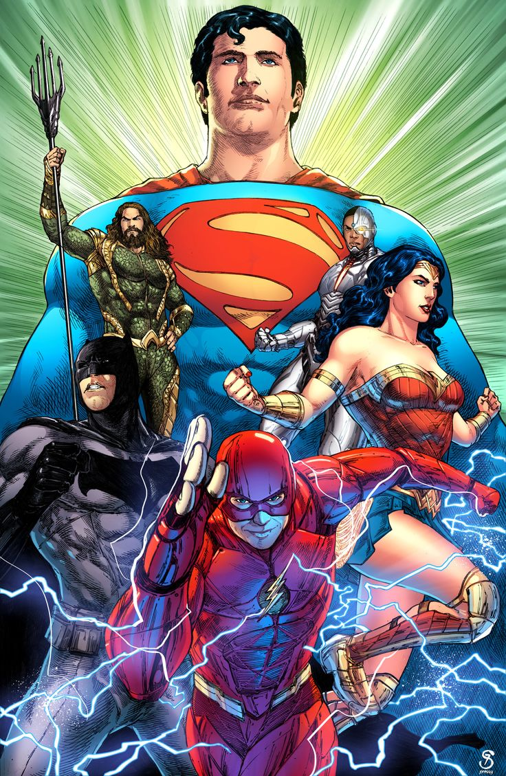 Justice League. color by Pressy Patanik