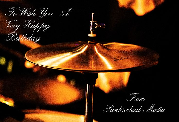 Happy Birthday Drummer By Sally Newhouse (Punkrocksal