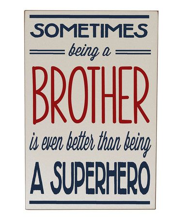 This Cream & Navy 'Being a Brother...' Wall Sign is perfect! #zulilyfinds