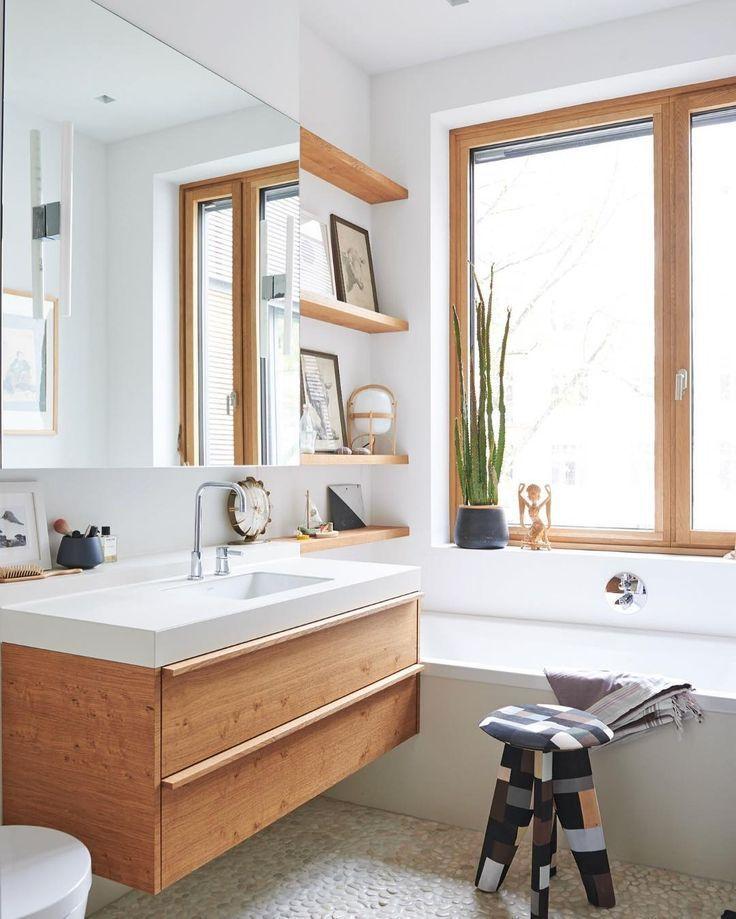 7 Essential Tips For Modern Bathroom Ideas For A Stylish Look Houseminds Wooden Bathroom Vanity Scandinavian Bathroom Bathroom Design Small