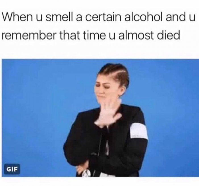 Smelling a certain alcohol – meme