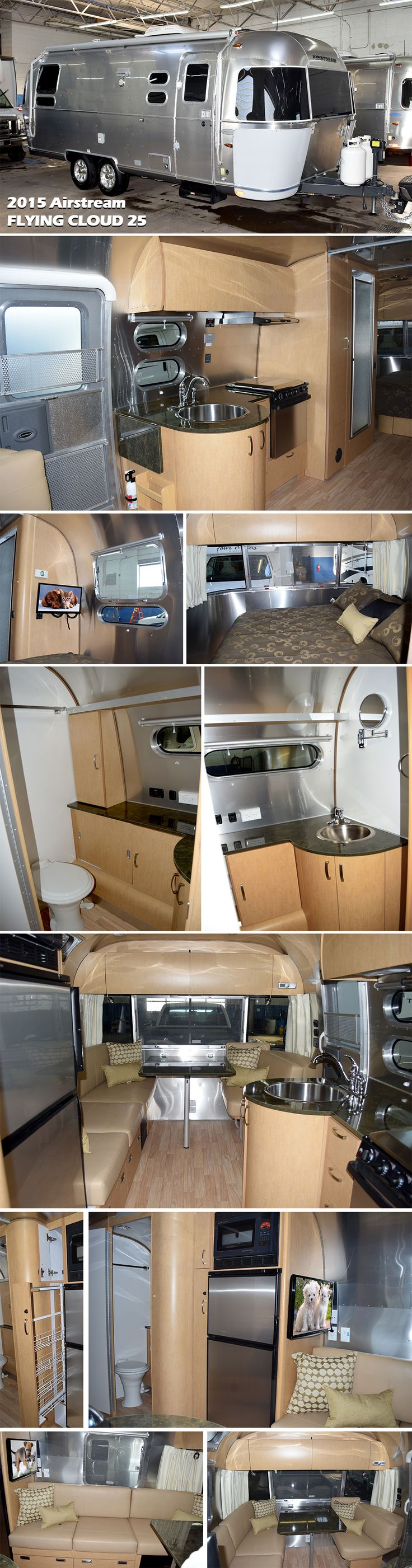 2015 AIRSTREAM FLYING CLOUD 25. This practical, efficient trailer is designed to move effortlessly from place to place, keeping you cushioned in comfort with advanced storage solutions and an abundance of floor plans that work beautifully for families, long-term travelers, or weekend wanderers.