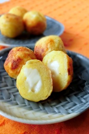 Cheese in potatoes