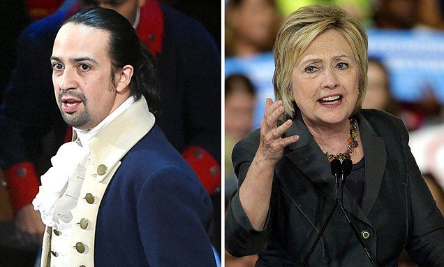 Clinton offers chance to see Hamilton - but tickets cost $2,700