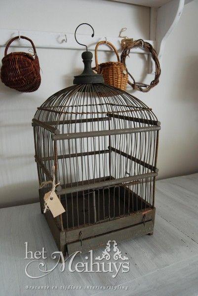 Brocante oude vogelkooi/vogelkooitje