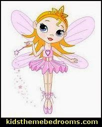 Cute Fairy - Peel and Stick Wall Decal fairy bedroom ideas - fairy fantasy theme - enchanted forest fairy decorating -fairy murals - fairy forest bedrooms - fairy woodland bedroom ideas - fairy bedroom decorating ideas - fairy bedroom decor - fairy wall decals
