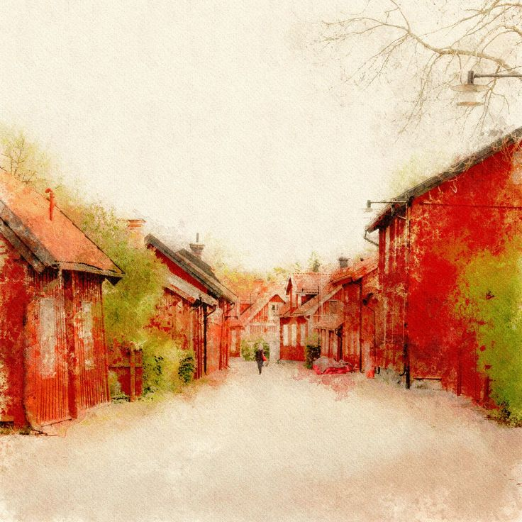 Seeing Red in Sweden | PhotoDonut