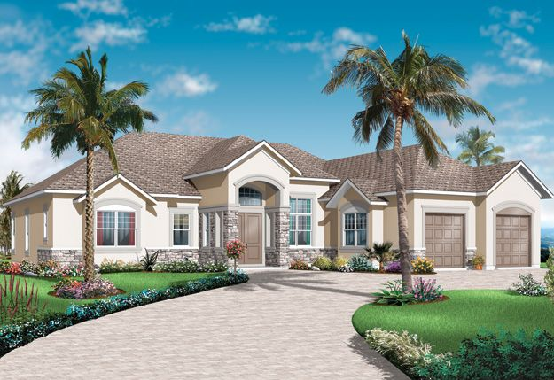 105 best images about spanish mediterranean home plans on for Large mediterranean house plans