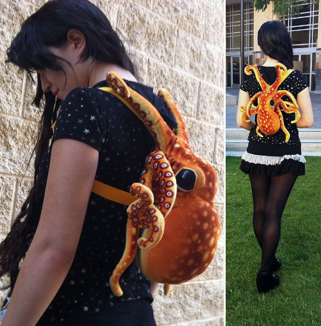 "#steampunk ""This is the plush octopus backpack made by Tumblr-er Jennifer Mones."" octopus-backpack.jpg"