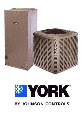 3 Ton 14.25 Seer York Air Conditioning System - YCJD36S41S1 - AHE36C3XH21 by York. $1809.00. Single Stage Air Conditioner with ECM Blower (R-410A) - Cooling Only split air conditioning system. Includes condenser and air handler. Not a heat pump. Supplimental electric heat strips can be added to air handler to provide electric heat (sold seperately).