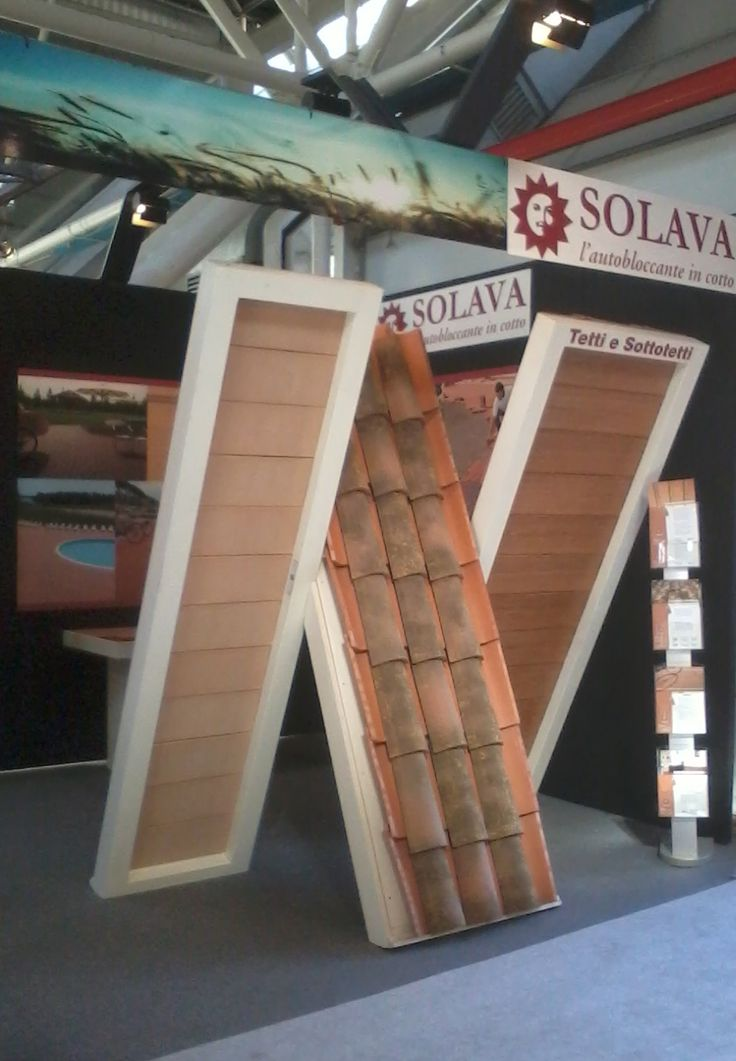 #Solava -  Pad. 26   Sand B6 - #Cersaie 2013 - #Copertura Romana  e Tavelle #Sottotetto a Bologna