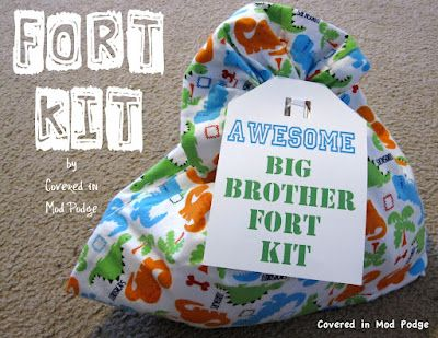 Fort Kit. Great idea as a gift for new Big Brothers or new Big Sisters.