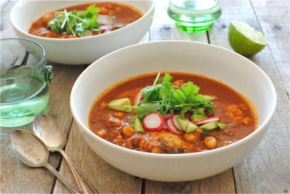 Sriracha Chicken Pozole | Bev Cooks