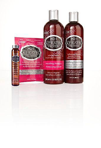 Shampoo, Conditioner, Kur und Pflegeöl von HASK mit Keratin Protein. Nährt und repariert strukturgeschädigtes, stark beanspruchtes Haar. #hask #beauty #haarpflege #keratin #weltbild