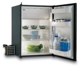 Buzdolabı. Model C130L. 12/24V DC. Kompresör ünitesi dolabın 1,5 metre uzağına kadar konabilir.