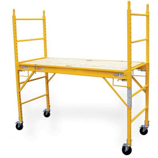 multi use drywall baker scaffolding ladder yellow steel standard equipment tools