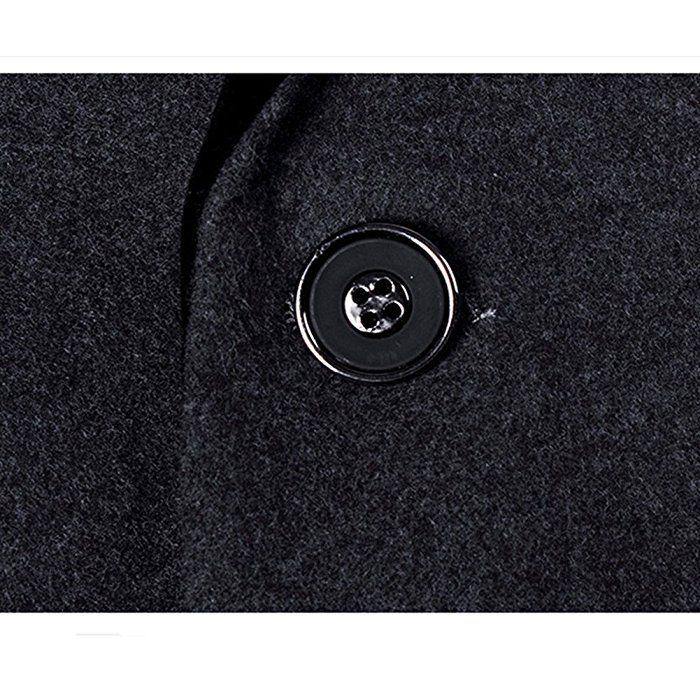 MOGU Mens 1 Button Center Vent Wool Blend Blazer Jacket