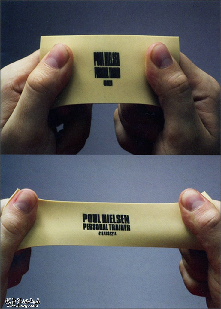 Business card - personal trainer. Amazing.