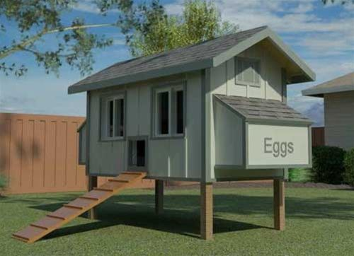 """""""The Daisy Coop"""" Chicken Coop Design - Download Easy Backyard Chicken Coop and Hen House Plans or Designs"""