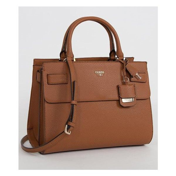 Guess Cate Purse ($118) ❤ liked on Polyvore featuring bags, handbags, brown, brown bag, guess purses, purse bag, brown handbags and guess handbags