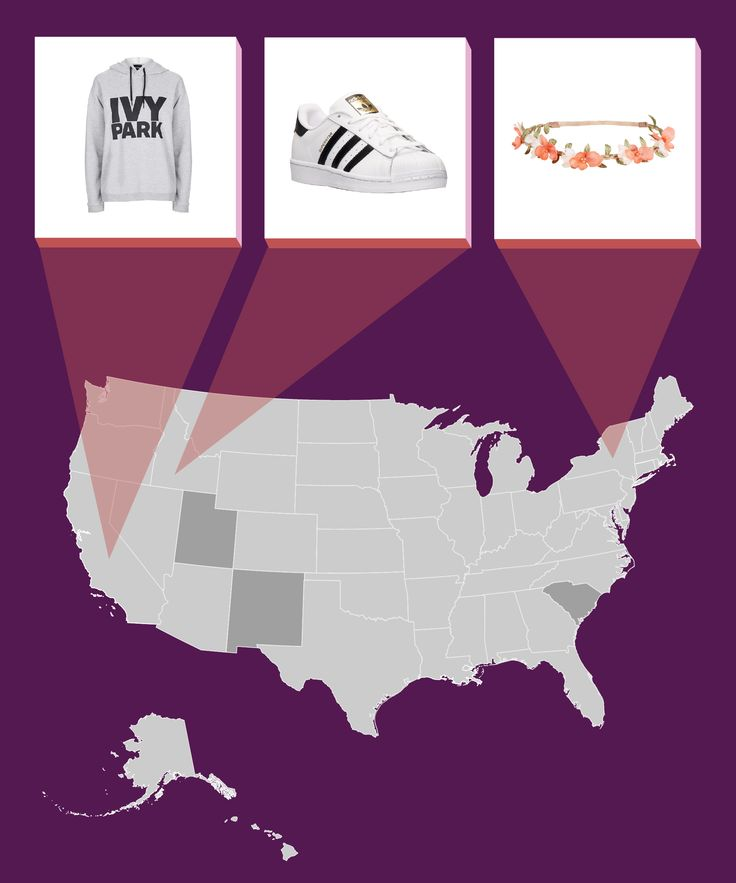 Which Fashion Trend Does YOUR State Love? #refinery29  http://www.refinery29.com/2016/05/109900/fashion-trends-by-state-2016