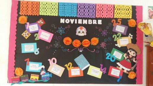 Periódico mural noviembre por Blanca Moyano