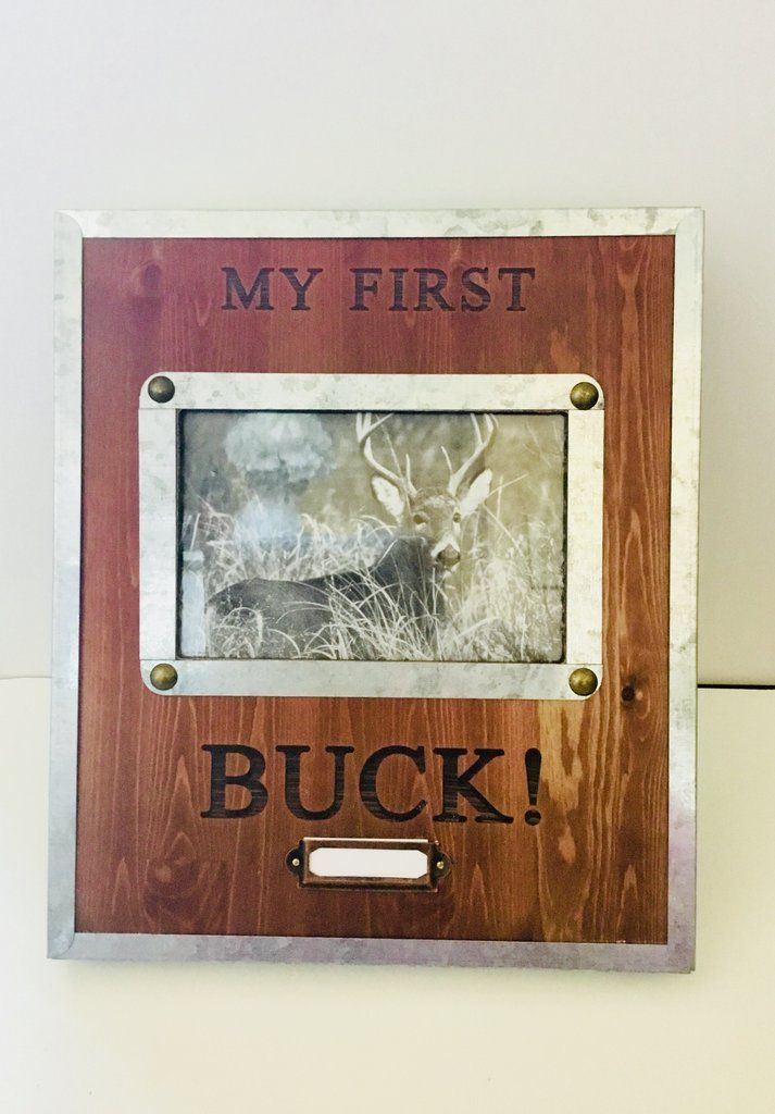 1075 X 925 My First Buck Wood And Metal 4x6 Photo Frame Gift