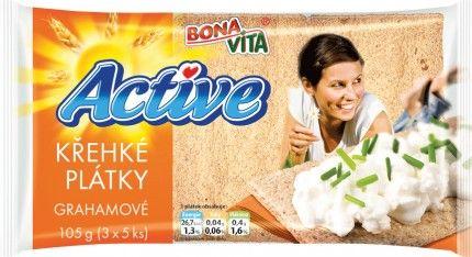 Bona Vita Active Křehké plátky grahamové 15 ks 105g