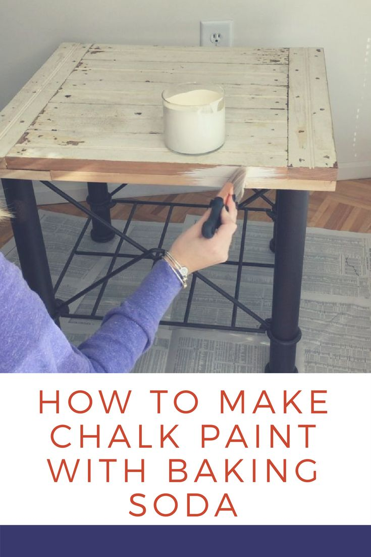 How To Make Chalk Paint With Baking Soda - Are we the only ones who didn't know this genius, and frugal, latex paint trick?