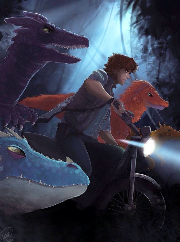 Hiccup crossover with Jurassic World <--- YES YES YES!!! this was all I could think about when I watched Jurassic world!