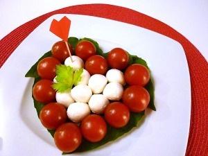 Mozzarella and Tomato Salad for Kids for Valentine's Day!