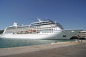 Insignia. Ιδιοκτησία & Διαχείριση: Oceania Cruises. 1998 ~ 2003 R One. 2004 ~ 2012 Insignia. 2012 ~ 2014 Columbus 2. 2014 ~ present, today's name. 30.277GT ~ 180,45 μ.μ. ~ 25,73 μ.πλάτος ~ 9 κατ/τα ~ 18knots ~ 624 επ. ~ 400 α.πλ.