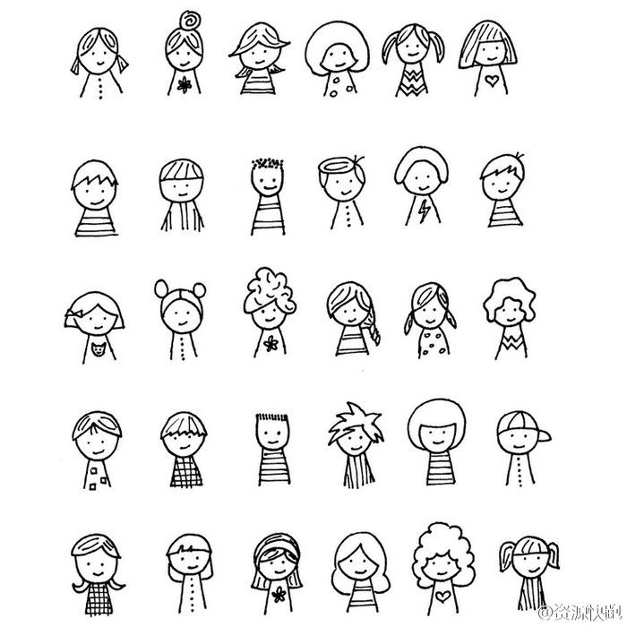 [Cp] [PDA painted stick figure cartoon # # creative character hairstyle articles [/ cp]                                                                                                                                                                                 More